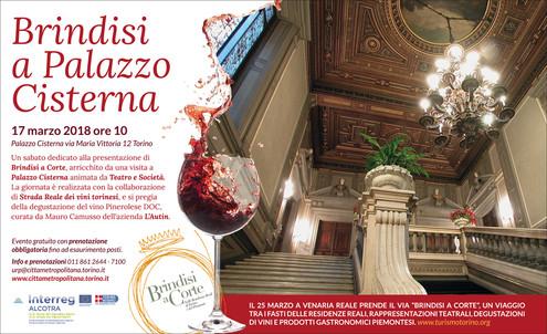 Anteprima di Brindisi a Corte 2018 sabato 17 marzo Palazzo Dal Pozzo della Cisterna Torino