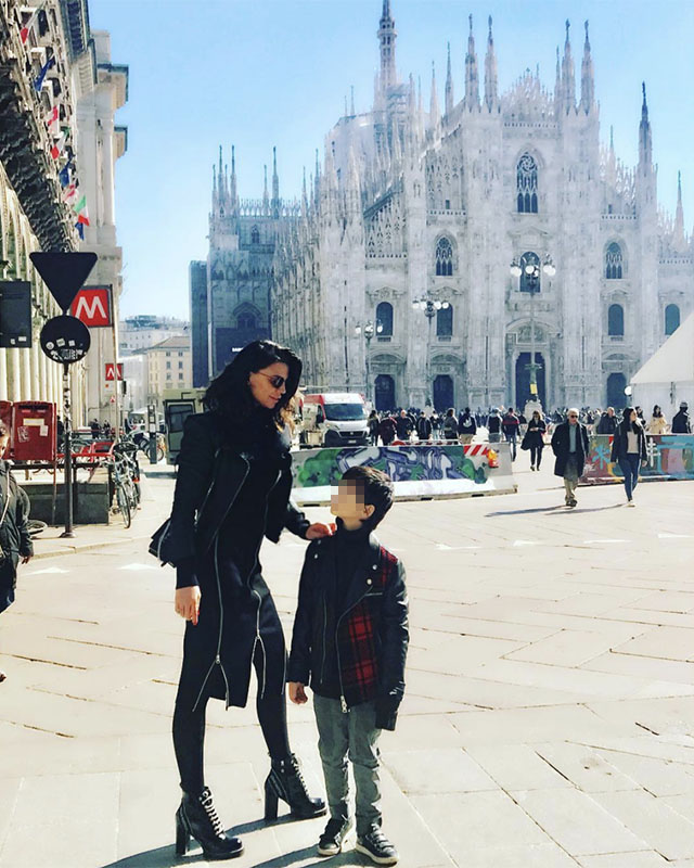 Claudia Galanti di nuovo a Milano con i figli: solo per poco? Pareva avesse deciso di traslocare in Francia, eppure è atterrata in Italia con Liam e Tal