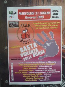 """Amorosi(BN),dice """"Basta alla violenza sulle donne""""con una serata speciale:ospite il Conte Giuseppe Cascella"""