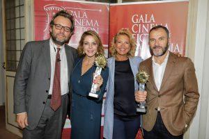 """XI edizione del""""Gala Cinema e Fiction in Campania"""" :premiati l'attrice Claudia Gerini e Massimiliano Gallo"""