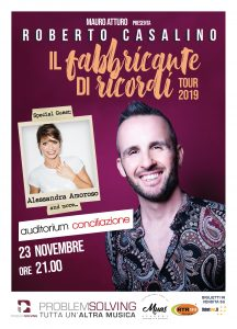 """Roberto Casalino nel tour """"Il Fabbricante di ricordi"""", il 23 novembre sarà all' Auditorium Conciliazione di Roma con un special guest"""