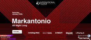 Al Duel Club, sabato 25 gennaio, ci sarà il dj Markantonio.