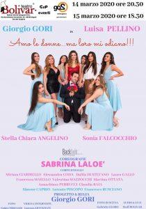"""Napoli, Al teatro Bolivar il 14 e 15 marzo ci sarà lo spettacolo """"Amo le donne.. ma loro mi odiano"""""""